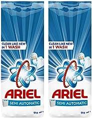 Ariel Blue Detergent Powder, 2 x 9kg