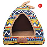 Morbido Interno Dog Houses Pets Nest, Puppy Dog Kennel Pet Letto casa per Cane Gatto, Home Dog House con Tappetino Portatile e Ideale per Trasporto e Brevi Gite