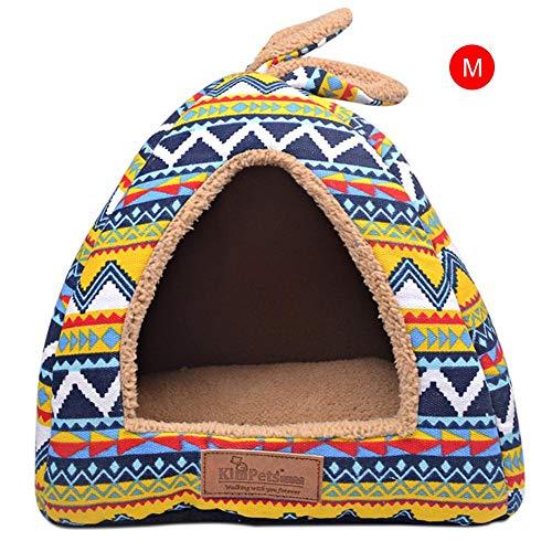 Pournei Caseta de Interior Suave para Mascotas, Perro, Cachorro, Perro, caseta para Mascota, casa...
