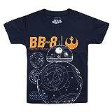 Star Wars Jungen T-Shirt Bb8 Astroid, Blau (Navy NVY), 7-8 Jahre