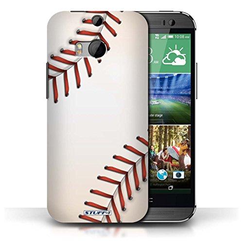 Coque de Stuff4 / Coque pour HTC One/1 M8 / Cricket Design / Balle Sportif Collection Base-ball
