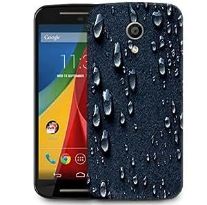 Snoogg Grey Drops Designer Protective Phone Back Case Cover For Motorola G 2nd Genration / Moto G 2nd Gen