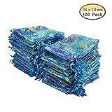Golvery 100 piezas patrón de Coralline Organza bolsas de regalo, bolsas de cordón bolsa de joyas...
