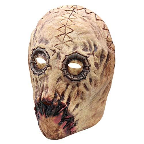 SchäDel Maske, Chshe TM, Halloween Cosplay Bloody Style Atmungsaktive Maske, Ultraleichte Adult Face Latex KostüM Prop Walking Dead Scary Maske FüR MäNner \U0026 - Walking Dead Kostüm Männer