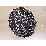 Babys Dreams- Sombrilla para cochecito de bebé, 68 cm de diámetro, protección UV 50+, diseño de flores, color gris