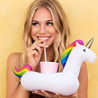 niceEshop Inflatable Drink Holders, (TM) Unicorn Inflatable Pool Party Cup Holders Coasters Party Supplies for Pool Beach Holiday Party Fun