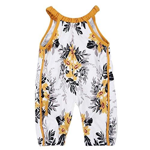 OSYARD Newborn Baby Girls Floral Romper Halter Jumpsuit Harem Pants Outfits Clothes...