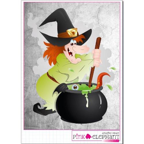 er - Halloween - Hexe 05 - 18,5 cm x 24 cm (auf A4-Bogen) witch ()