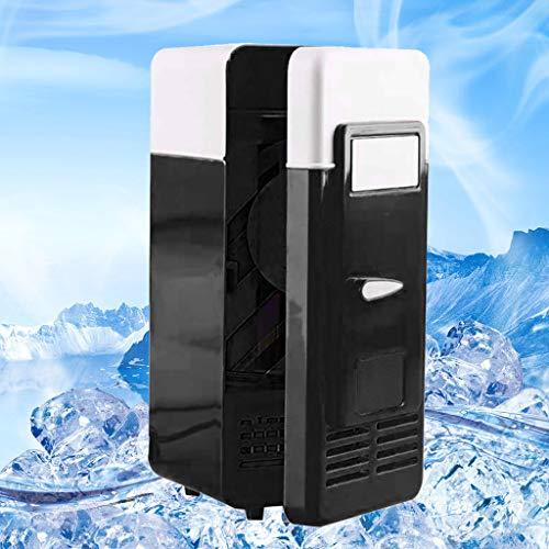 Mini-Kühlschrank, Chshe, Mini-Usb-Kühlschrank, Für Tragbare Getränke, Getränkedosenkühler, Integrierte Led-Anzeige, Einfach Zu Bedienen (Schwarz)