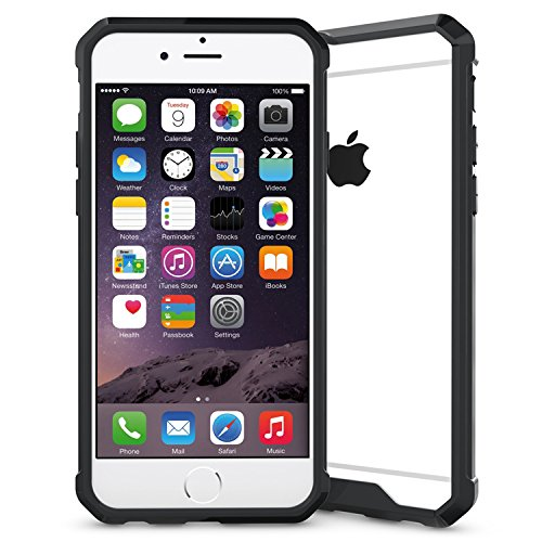 iPhone 6/6S 4.7 Hülle, Voguecase Transparent Schutzhülle / Case / Cover / Hülle / 2 in 1 TPU+ PC Gel Skin für Apple iPhone 6/6S 4.7(transparent) + Gratis Universal Eingabestift schwarz