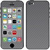 """Skin Apple iPhone 5S / SE """"FX-Carbon-Silverdark"""" Designfolie Sticker"""