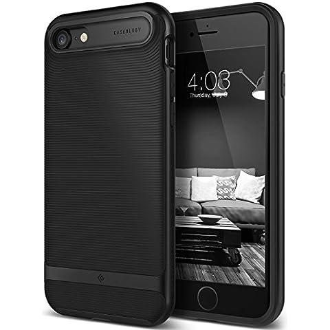 Funda iPhone 7, Caseology® [Serie Wavelength] Duradero Antideslizante Gota de Protección [Negro Mate] para Apple iPhone 7 (2016) - Negro
