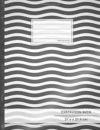 """Checklisten-Buch: DIN A4 • 70+ Seiten, Softcover, Register, \""""Zebra\"""" • #GoodMemos • 18 Checkboxen + Platz für Notizen/Seite (inkl. Register mit Datum uvm.)"""