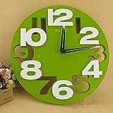 YAOUCWC Grand Nombre 3D Rond Horloge Murale Numérique Grande Horloge Murale...