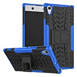 Noise Rugged Dual Layer Kickstand Hybrid Warrior Case Back Cover for Sony Xperia XA1 Ultra - Blue