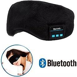 Masque De Sommeil Bluetooth Casque - Navly Musique Sommeil Masque,Ultra Mince Haut-Parleurs,Ultra Douce Masque,Aide Sommeil Pour Voyages(Noir)