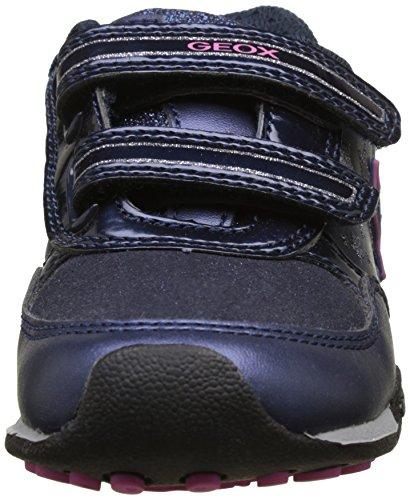 Geox Jr New Jocker A, Scarpe da Ginnastica Basse Bambina Blu (Navy/fuchsia)