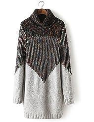 Nuevo color de solapa de las mujeres suéteres de punto