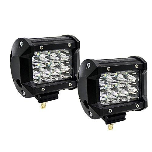 4 Inch 36W LED Lampes de Travail Super PDR Projecteur Phare de Travail Feux Antibrouillard LED Spot LED Camion, Off Road, SUV, UTV, VTT, Bateau, Moissonneuse (2 Pièces)