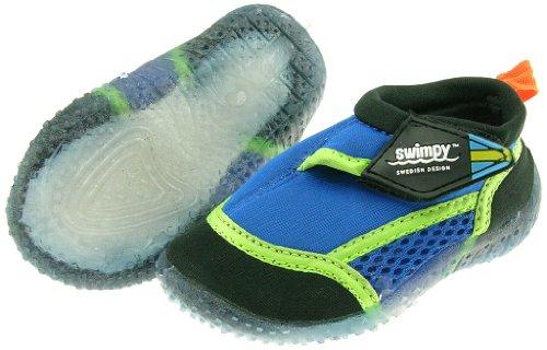 Swimpy Kinder Schwimmschuhe für den Strand UV Blau Blau/Grün/Schwarz EU Größe 24-25 (Kleidung Com Mädchen)