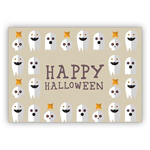in beige mit vielen Geistern: Happy Halloween (Halloween-ideen Für Gruppen Von 4)