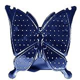 Gosear Acryl Schmetterling Form Dreidimensionale Ohrringe Ohr Ohrstecker Schmuck Display Ständer Halter Rack Blau