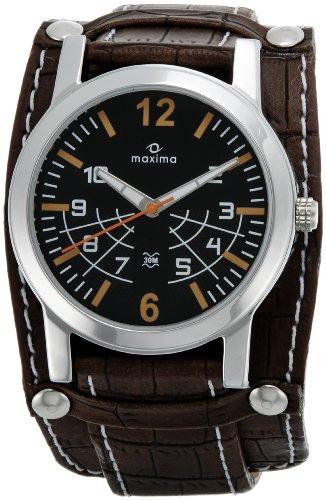 Maxima Attivo Analog Black Dial Men's Watch - 24260LMGI image