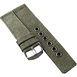 New Military Army Men Man Nylon Canvas Fabric Wrist Green Watch Band Strap 22mm