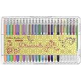 officematters 48 colores de Bolígrafos de Gel con Caja, 50% Tinta Más para Libros de colorear para adultos - (Brillo, Neón, Pastel, Metálico)