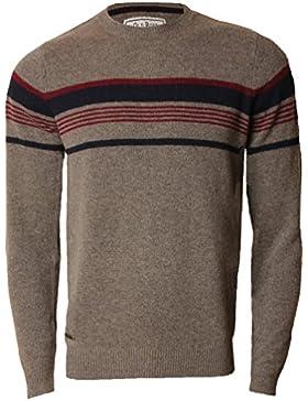 Mens Jumper Lambswool Blend Moda de punto Sweater Barton Old Boys Network