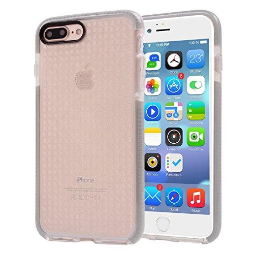YAN Für iPhone 7 Plus Dumbbell Texture Transparente TPU Schutzhülle ( Color : White ) Grey