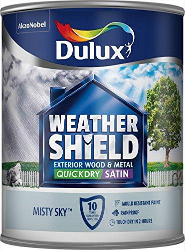 Dulux schnell trocknende Wetterschutz-Satin-Farbe, 750-ml, schwarz, blau, 5213581