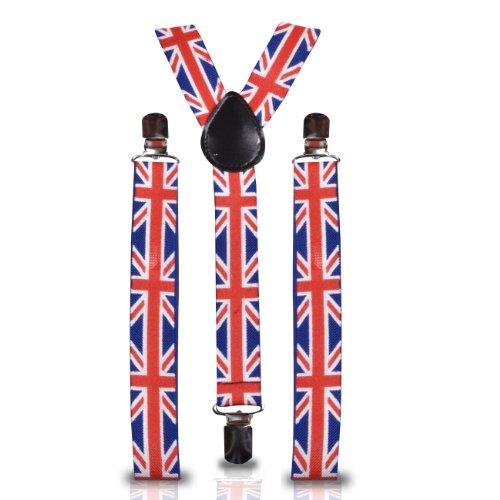Shukan Fashions - Bretelles - Homme Multicolore UK UNION JACK