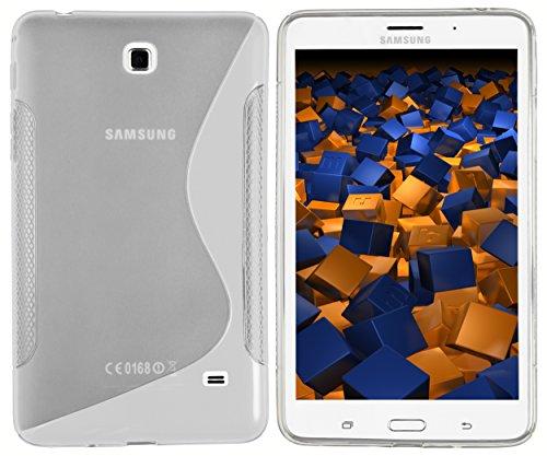 mumbi S-TPU Schutzhülle für Samsung Galaxy Tab 4 T230 T235 (7 Zoll) Hülle transparent - Zoll 7 Weiß Galaxy 4 Samsung Tab