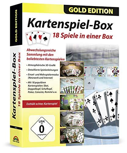18in1 Kartenspielesammlung Premium - Skat, Doppelkopf, Canasta, Rommé, 5 Gleiche für Windows 10, 8.1, 8, 7, Vista und XP