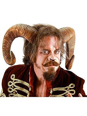 Schafsbock Hörner Kostüm-Zubehör - braun - One Size (Göttin Kostüm Zubehör)