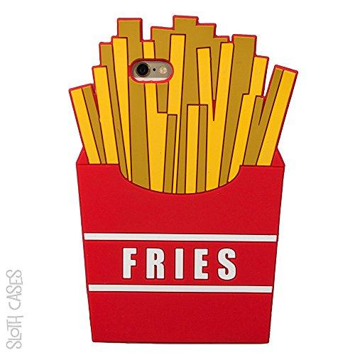 Frites Fast Food la forme 3D en caoutchouc silicone housse étui pour Apple iPhone Cas Sloth SE ©