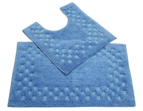 homescapes-bordo-con-motivo-a-quadri-set-2-tappetini-da-bagno-colore-blu-100-morbido-cotone-120-gsm-