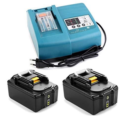 FengBP Batterie de rechange 2 x 18 V 4 Ah BL1850B avec indicateur...