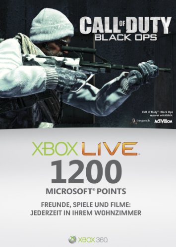 Xbox 360 - Live Points Card 1200 - im Design von Call of Duty: Black Ops (1200 Microsoft-punkte)