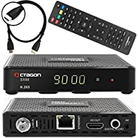 Octagon SX88Sat Receptor Satélite DVB-S/S2multi-flujo Incluye cable HDMI (HDTV, HDMI, USB 2.0, audio digital, salida AV, externo IR Sensor, LAN, H.265, YouTube, Stalker, Kodi, radio por internet)
