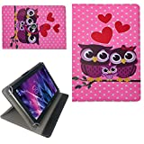 Rose Hibou Sac Étui de Protection pour Tablette 10 'Denver TAQ 10343