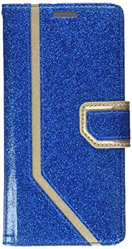 fyy Note 8, Galaxy Note 8Hülle, [RFID-blockierender Wallet] [Make-up Spiegel] Premium PU Leder Galaxy Note 8(2017) Wallet Tasche mit Kosmetikspiegel und Handschlaufe, X-Bling-Navy+Gold
