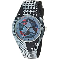 Airwalk Quartz Rubber and Silicone Casual Watch, Color:Grey (Model: AWW-5091-BK)