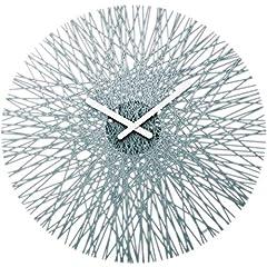 Idea Regalo - koziol 2328540, Orologio da parete, diametro 44,8 cm, Grigio (anthrazit), plastica, tondo