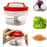 Premium Shop Multifunktional Manuelle High Speedy Knoblauch Zwiebel Gemüse Obst Fleisch Twist Chopper Cutter Shredder Mahlwerk Schneide