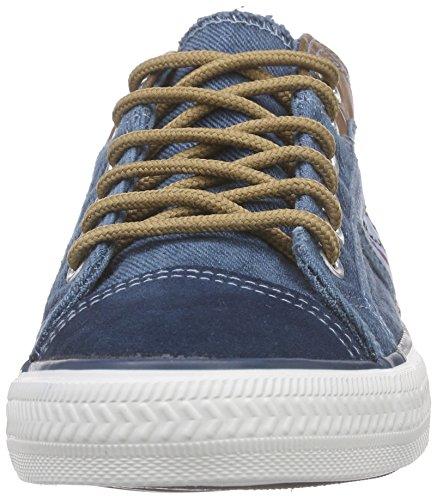 Nebulus Colorado, Baskets Basses Femme Bleu - Bleu jean