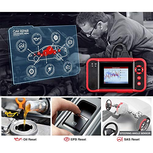 TERMALY Diagnosegerät Auto USB,Diagnosegerät Auto Handy,Diagnose-Tester Diagnosescanner,OBD-Ii Adapter,CRP123-Fehlerdetektor, Verwenden Sie EIN OBDii-Standardfahrzeug,A