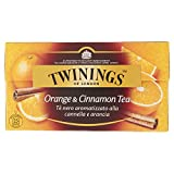 Twinings Tè Nero - Orange & Cinnamon - Inconfondibile Gusto Speziato della Cannella incontra il Dolce e Brioso Sapore dell'Arancia - Miscela dal sapore Appagante e Profumato (50 Bustine)