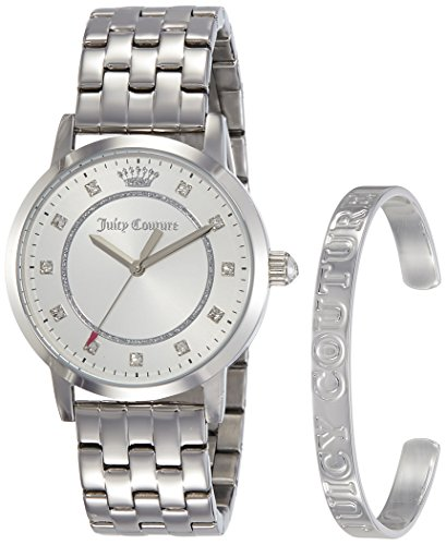Juicy Couture Womans Socialite braccialetto d'argento e guardare set regalo 1950010